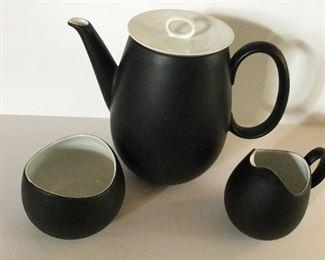 MCM Raymond Loewy teapot with creamer and sugar bowl.