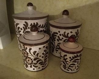 Made in Italy ceramic canester set.
