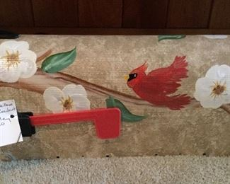 Hand painted mailbox - never used.