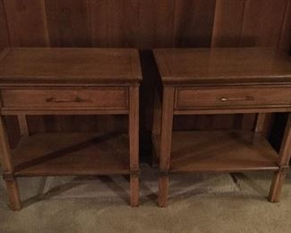 MCM pair of bedside tables.