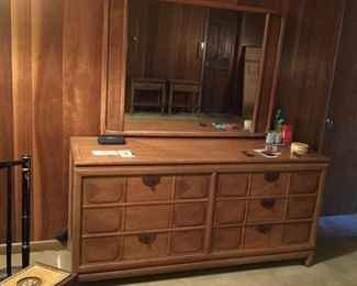 MCM Thomasville dresser with mirror.
