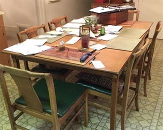 MCM table with 6 chairs.
