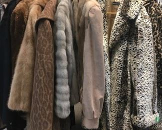 Fun faux furs and also some real ones. Your choice.