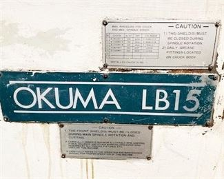 Okuma Lathe for machining  barrels with a capacity of producing  10 barrels  per hour or over 200 day with extra shifts.