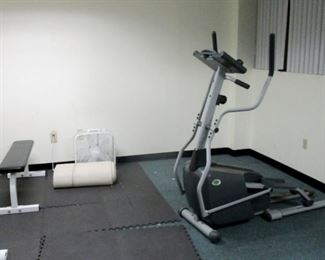 Gym Equipment for work out. Electric programmable treadmill.
