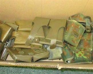 Ammunition pouches to slip on belt