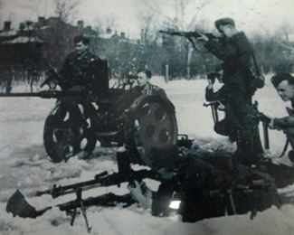Framed Picture,. German soldiers