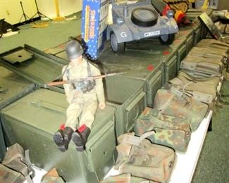 Ammo boxes and belt worn pouches, gun accessories, military toys