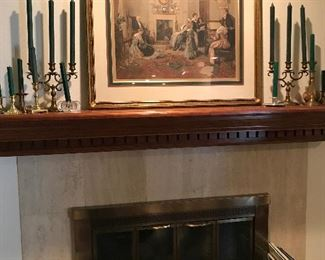 Candlesticks and silver
