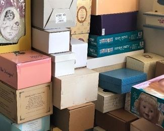 All of these boxes are for baby dolls in the house