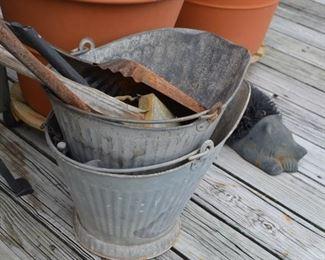 ash buckets $15 ea. ash shovels $8 ea.