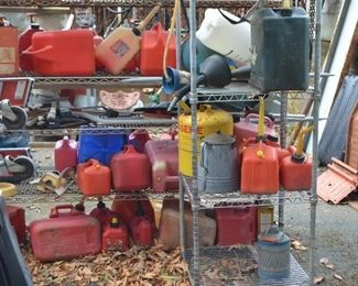 assorted gas cans $3 to $8