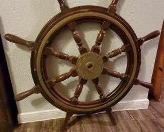 Ships wheel off real vessel