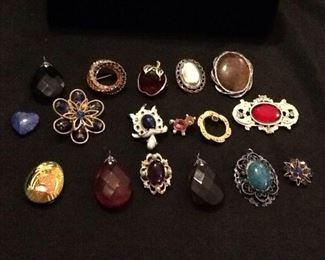 Stone Pins and Pendants