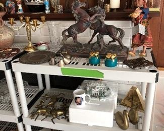 Horse / stallion cast - bronze Statue,  Madame Alexander dolls, Michelle Obama doll, Obama White House
