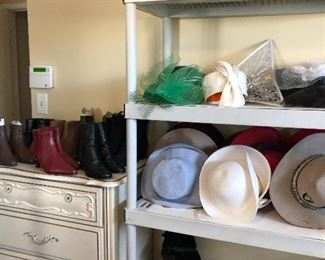 hats, scarves, purses, jewelry