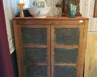 Beautiful Pie Safe in wonderfully aged fine condition.  $350. It will go fast!