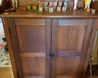 Another real antique cabinet look at the tool work inside