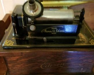 Edison Fireside cylinder player  Better Photo to come