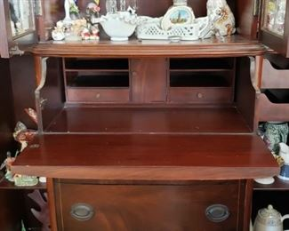 Drop front cherry Secretary Desk