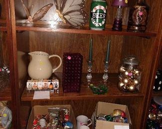 Christmas Decor, Vases,  cups, wall decor.