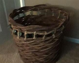 Large decorative basket.