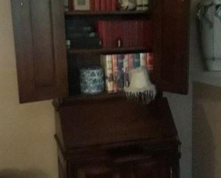 Inside of the vintage secretary.
