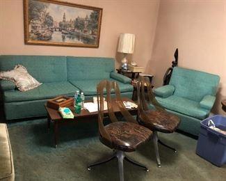 Mid Century Modern Sofa, Chairs