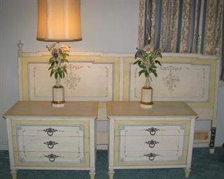 John Widdicomb King bed frame and night stands