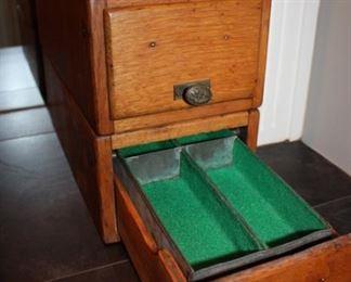 Antique boxes with tin interior