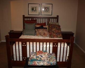 Drexel queen bed