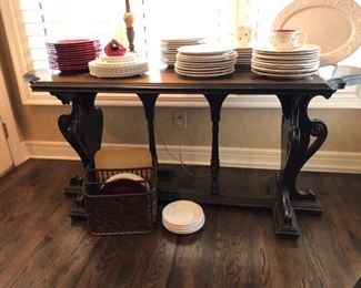 Antique sofa/library table