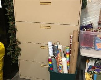 One of several file cabinets
