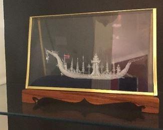 Hand Blown glass ship