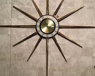 Mid century modern clock