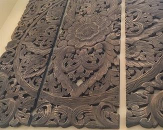 A beautiful carved wooden triptych