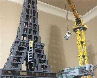 LEGO Eiffel Tower and crane...no assembly required