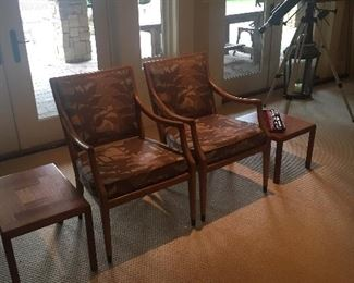 Pair of side chairs and tables