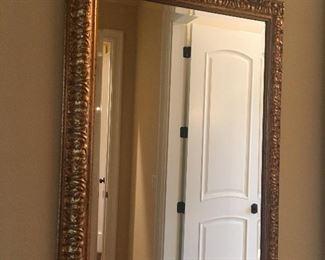 Lovely framed beveled mirror