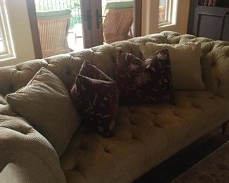 Beautiful custom tufted sofa...perfect condition