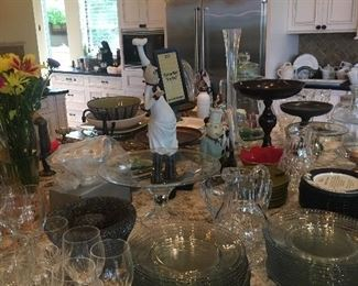 Glassware and entertaining pieces