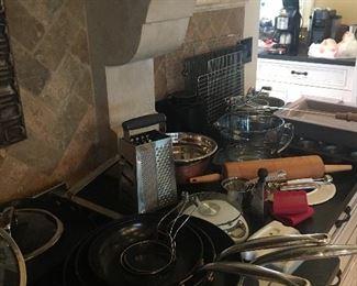 Cookware, pots and pans, kitchen utensils