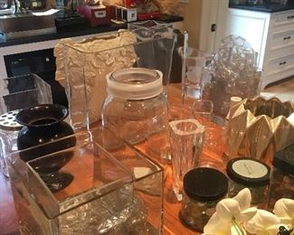 Vases and floral arranging items