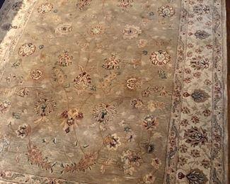 "Silk and wool Kashan rug. 5'6"" x 8'6"""