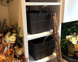 Great leather storage bins