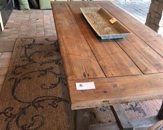 """Restoration Hardware table has two leaves. Without leaves 40"""" wide x 8' long x 31"""" high"""