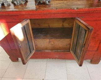 Asian Red Buffet-Credenza