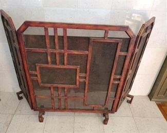 Asian Fireplace Screen