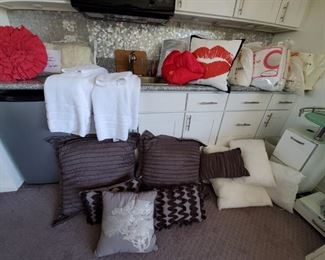 Lots of Linens and Bedding Mostly Queen size