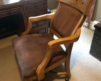 Cool desk chair.  Has a desk to match.  Or not.  $75